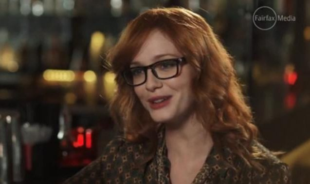 Watch An Awkward Kate Waterhouse Interview With Christina Hendricks