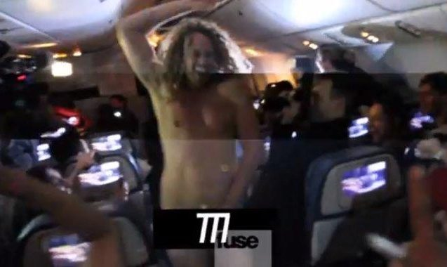 Aussie Media Get Naked & Rowdy On Rihanna's Promo Plane