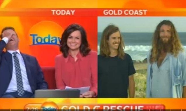 Watch Karl Stefanovic Lose It During Interview With Surf Bros