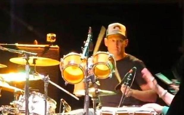 Lance Armstrong Pounds the Drums at the Austin Reggae Festival