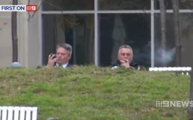 Actual, Literal Fat Cat Joe Hockey Caught Puffing A Cigar