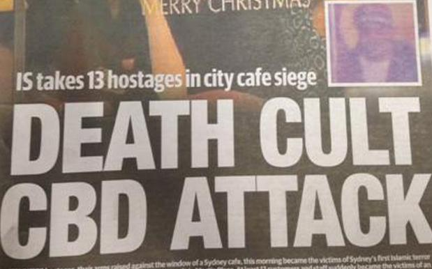 The Daily Telegraph's Rushed Out Martin Place Cover Is A Dangerous New Low