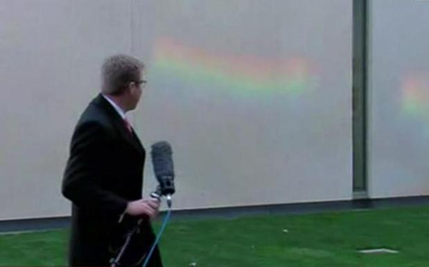 Rainbow Appears On Party Room Wall As Coalition Stalls Vote On Marriage Equality