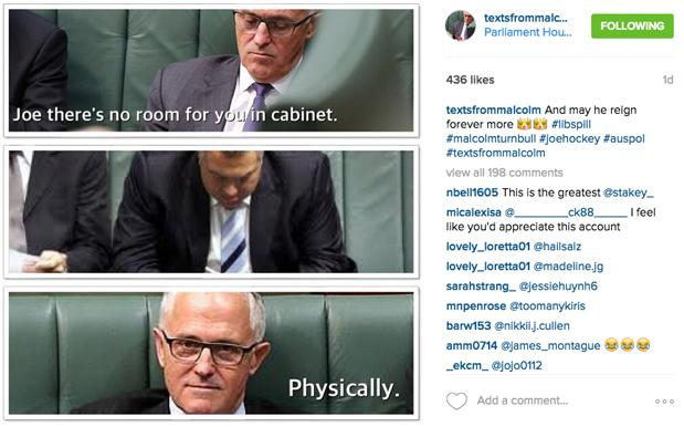 Instagram Account 'Texts From Malcolm' Is Nailing The State Of #Auspol Right Now