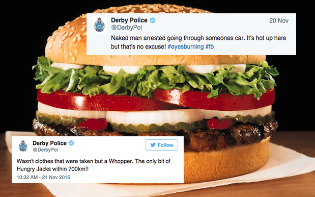 A Bloke In WA Was Arrested For Stealing A Whopper From A Car While Naked