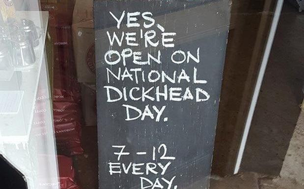'Dickhead Day' Café Owner's Response To Racist Backlash Is Vital Reading