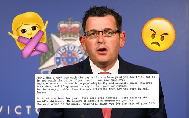 WOAH: Dan Andrews Showed Us The Hectic, Icky Homophobic Emails He's Copped