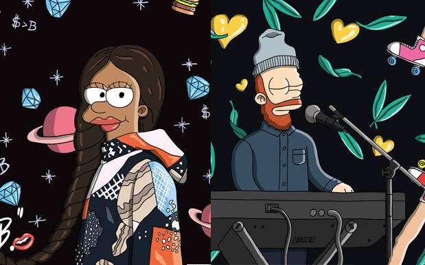 Tkay Maidza & Chet Faker Cop Their Own Cute-As-Hell Simpsons Caricatures