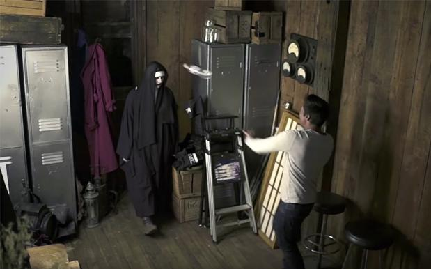 WATCH: Aussie Ledge Deals With 'Conjuring' Scare Prank By Falconing A Ghost