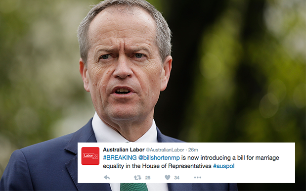 Bill Shorten Officially Intros Marriage Equality Bill As FU To Plebiscite