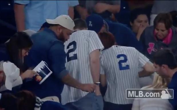 Watch Baseball Fans Helps Poor Bastard Find Ring After Proposal
