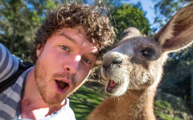 Kiwi Who Takes Selfies W/ Animals Around The World Is Living His Best Life