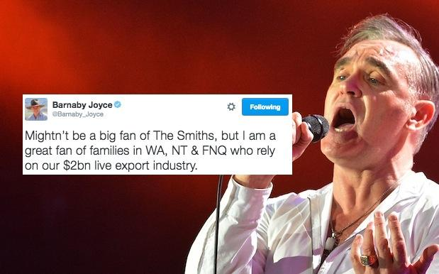 Barnaby Joyce Just Started A Beef About Beef With Fkn Morrissey Himself