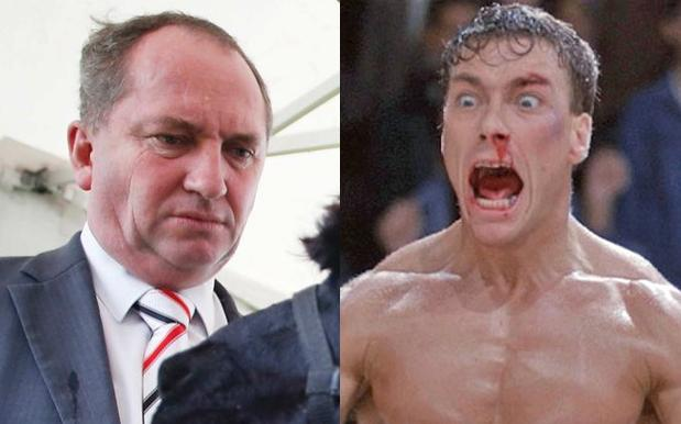 Barnaby Joyce Will Meet With Jean Claude Van Damme Because Auspol Is Cooked