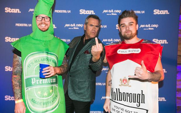 Y'All Got Real Close & Personal To Bruce Campbell At Our Stan Halloween Party