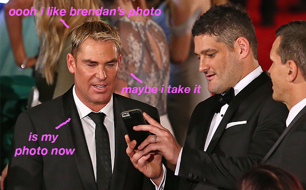Fans Call Out Warnie For Pretending He Took Insta Photos He 120% Didn't