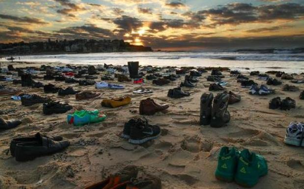 These 191 Pairs Of Shoes Symbolise Aussie Men Who Died By Suicide Last Month