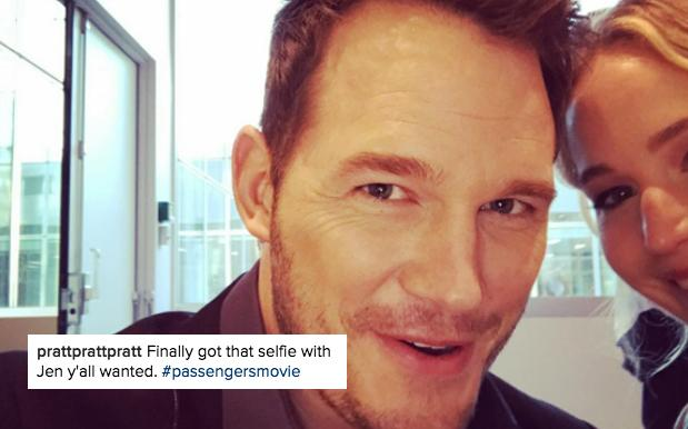 Chris Pratt Dedicates Press Tour To Cropping J-Law Out Of Every Single IG