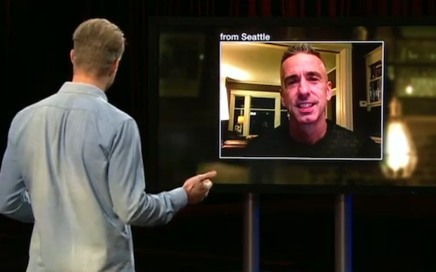 WATCH: Relationship God Dan Savage Blesses 'Hack Live' With His Guidance