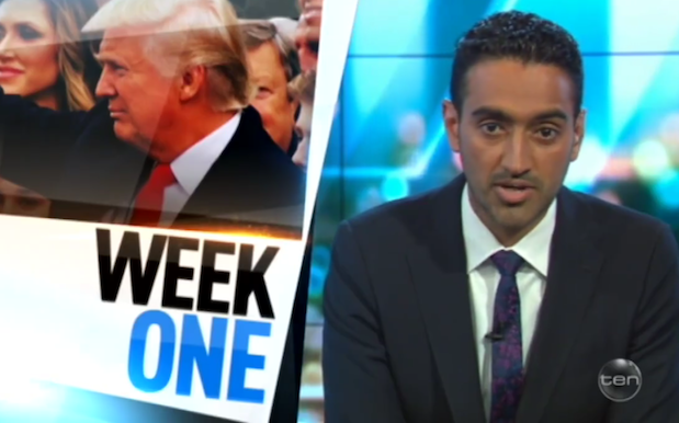 WATCH: Waleed Aly Recounting Trump's First Week As Prez Is Goddamn Chilling