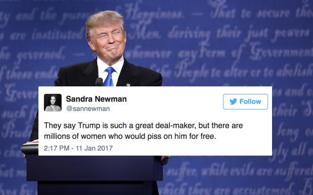Twitter Is Unleashing A Steady Trickle Of Gold About The Trump Piss Rumours