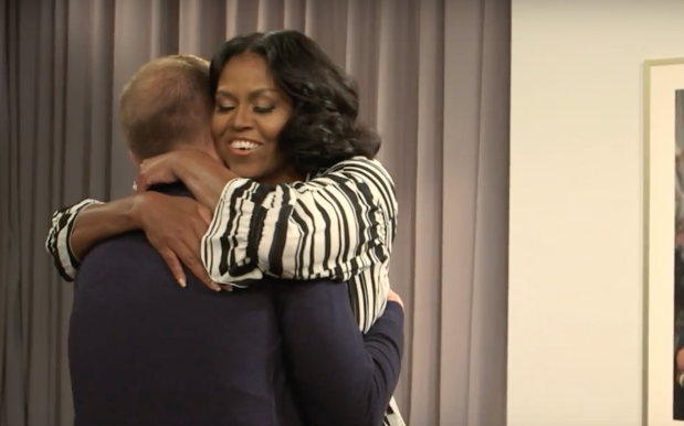 WATCH: Michelle Obama Surprises Fans On Jimmy Fallon & Emotions Are Pouring