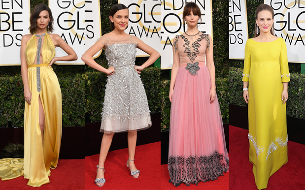 Here's The Extremely Glam ~Lewks~ From The 2k17 Golden Globes Red Carpet