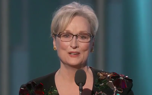 WATCH: Meryl Streep Calls Out Trump's Cruelty In Perfect Globes Speech
