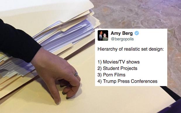 "Hollywood Pro Calls Bullshit On Trump's ""Blank"" Press Conference Docs"