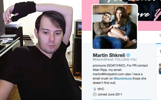 Martin Shkreli Booted From Twitter After Deeply Weird Sexual Harassment