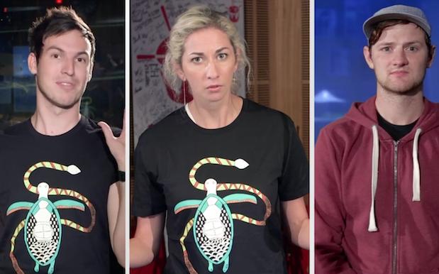WATCH: Triple J Jumps On The White Shirt Meme-Wagon W/ Ben, Liam & Veronica