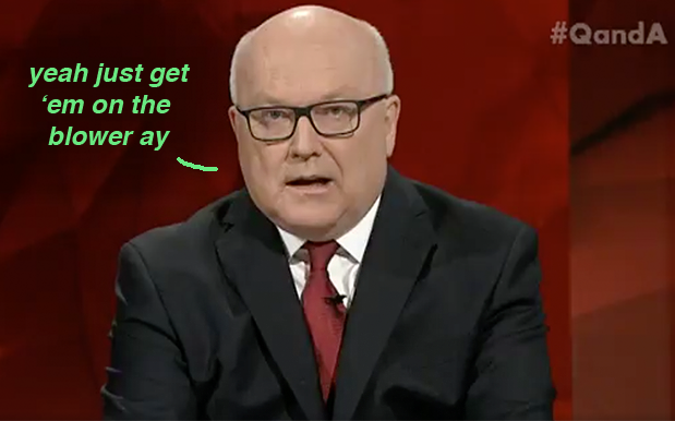 George Brandis' Advice For Receiving A Debt Notice: Just Call Centrelink!