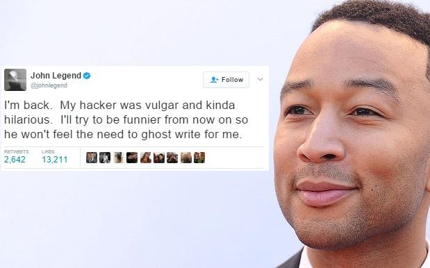 Someone Hacked John Legend's Twitter And Old Mate Actually Gave 'Em Props