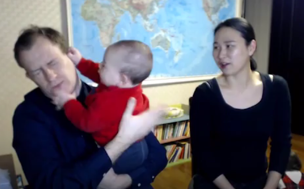 WATCH: 'BBC Dad' Has The Follow-Up Interview Hijacked By His Blessed Kids