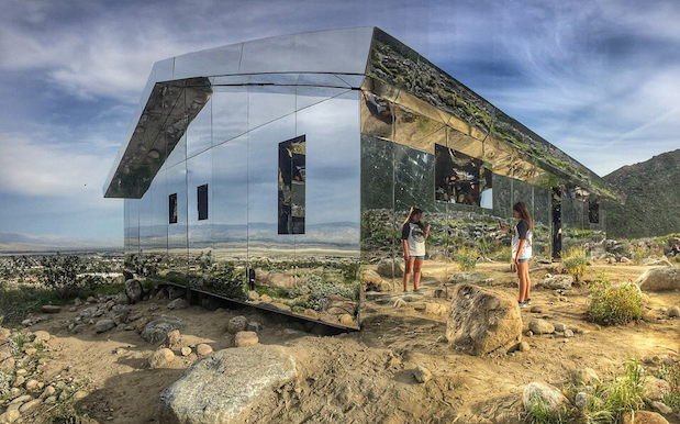A Mind-Bending Mirrored House Is Sitting In The Coachella Desert RN