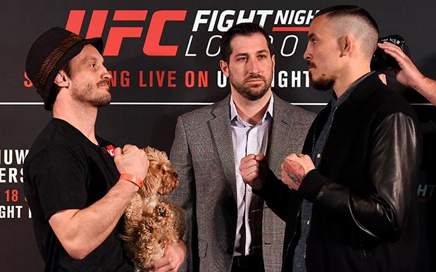 A UFC Fighter Brought His Dog To A Staredown & How Could You Punch Him Now?