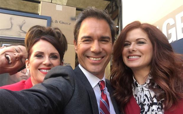 The 'Will & Grace' Cast Shared Selfies From The Set & Oh Boy It's Happening