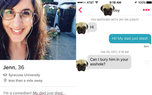 Woman Tells Tinder Matches Her Dad Died To See If They Still Want A Root