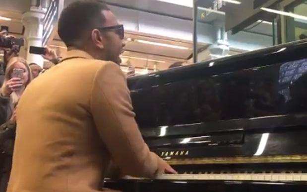 WATCH: John Legend Busted Out An Surprise Gig In A London Tube Station