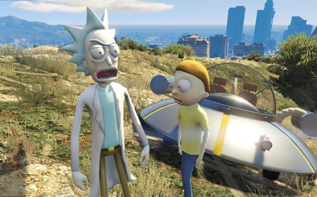 WATCH: There's A 'Rick & Morty' 'GTA V' Mod That'll Tide You Over Until S3