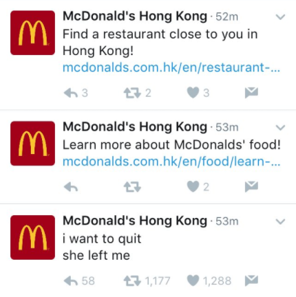 Fake McDonald's Twitter Account Suspended After 9-Month Run
