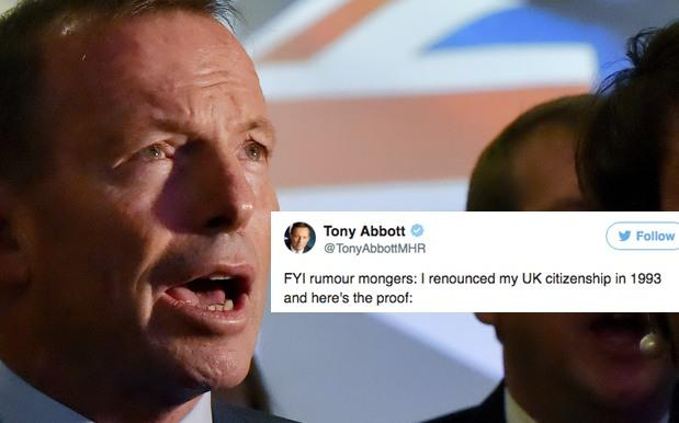 Tony Abbott Proves Dual Citizenship Rumours Wrong, Still Gets Roasted