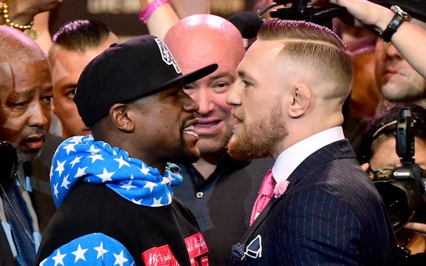 Conor McGregor Fronted Floyd Mayweather In A Suit W/ 'Fuck You' Pinstripes