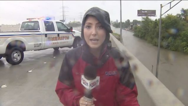 Houston news anchors forced to flee as water rushes into TV station