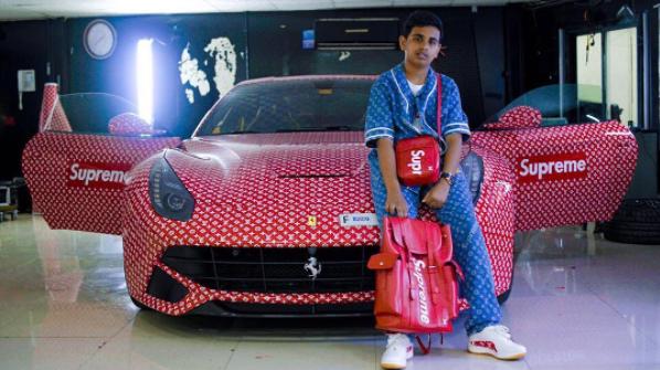 15 Y.O. Dubai Heir With Braces & No License Buys First Supreme x LV Ferrari