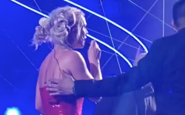 WATCH: Britney Spears Left Visibly Shaken After Gronk Fan Rushes The Stage