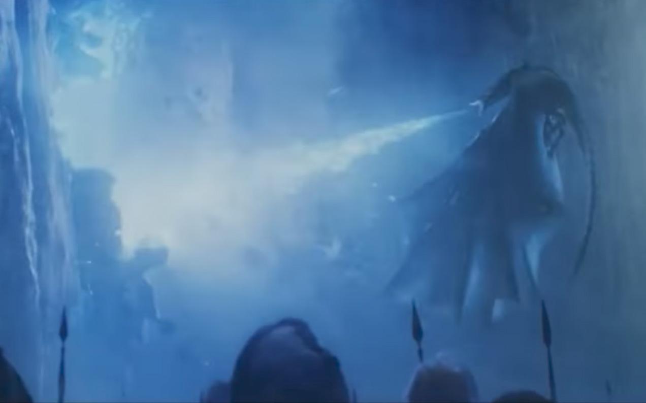 Blue Fire Dragons Wallpaper