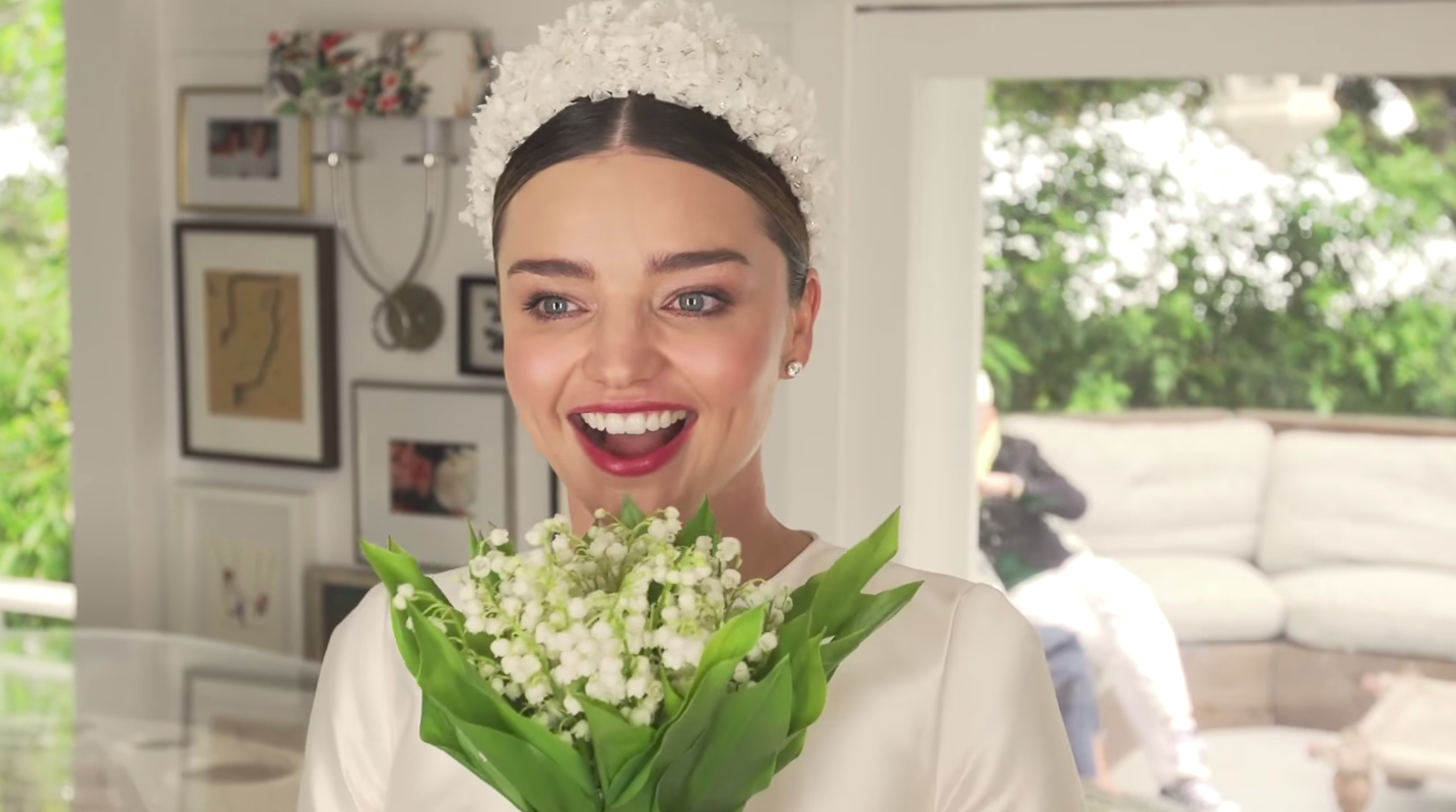 Miranda Kerr S Loaning The Ngv Her Dior Wedding Dress