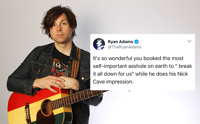 Ryan Adams apologises to Father John Misty for Twitter attack