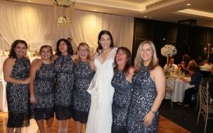 6 Women Turned Up To A Wedding Wearing The Same Dress & It's So Damn Good